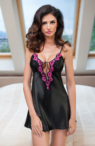 Irall Salma Satin Nightdress with low tie cut bust