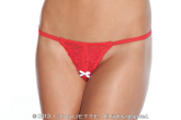 classic crotchless panty with bow detail