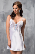 Snow-White Satin Chemise with detailing